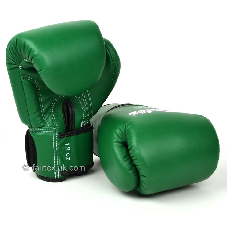 Fairtex BGV16 Leather Boxing Gloves Forrest Green
