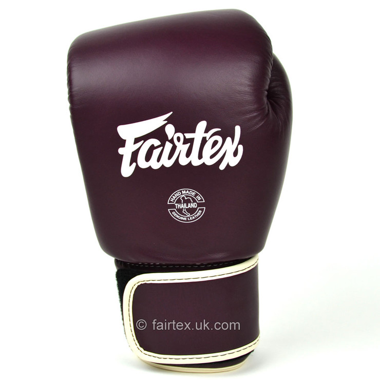 Fairtex BGV16 Leather Boxing Gloves Maroon