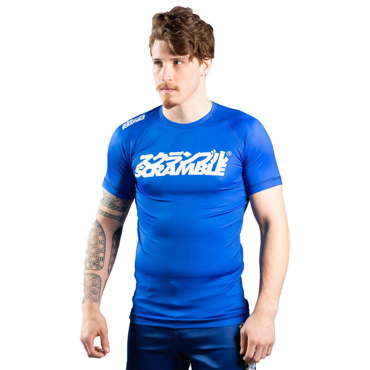 Scramble Shiai Rash Guard Blue