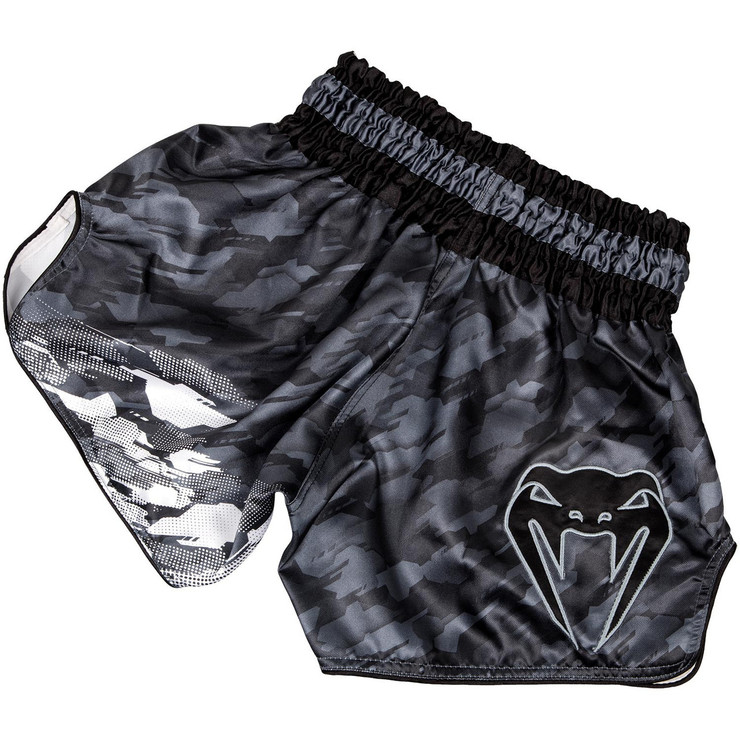 Venum Tecmo Muay Thai Shorts Dark Grey