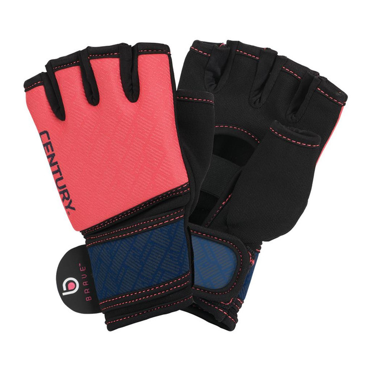 Century Brave Ladies Gel Gloves Coral/Navy