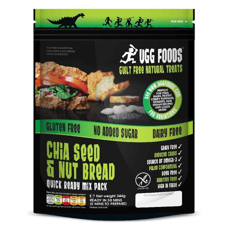 Ugg Foods Chia Seed & Nut Bread Mix