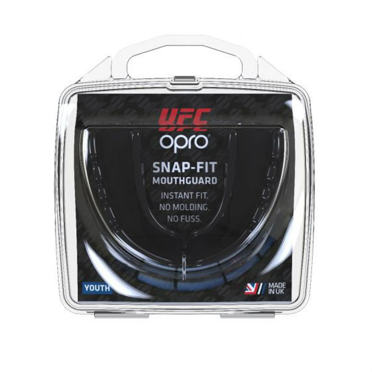 Opro Junior UFC Snap Fit Mouth Guard Black