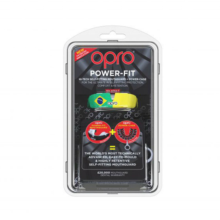 Opro Power Fit Countries Mouth Guard Brazil
