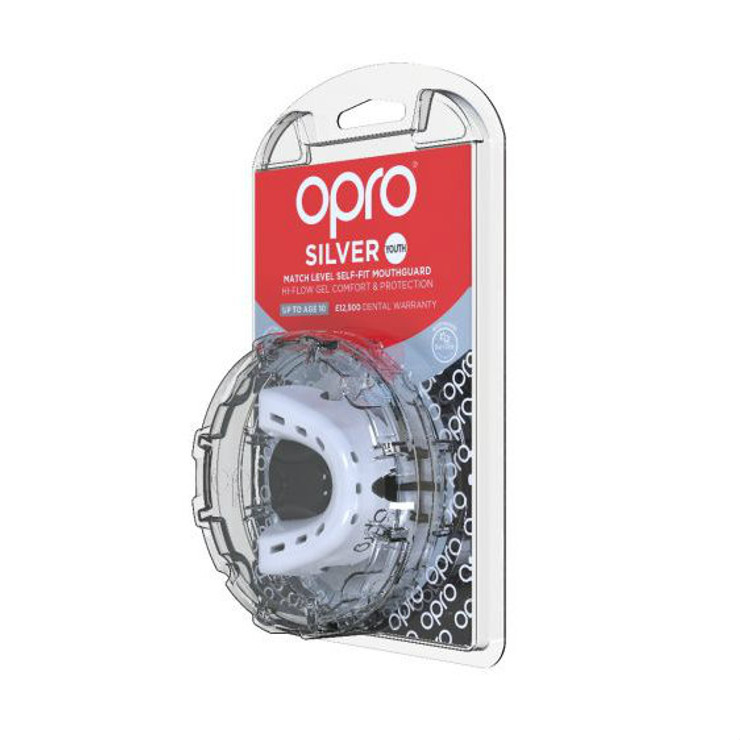 Opro Junior Silver Gen 4 Mouth Guard White/Black