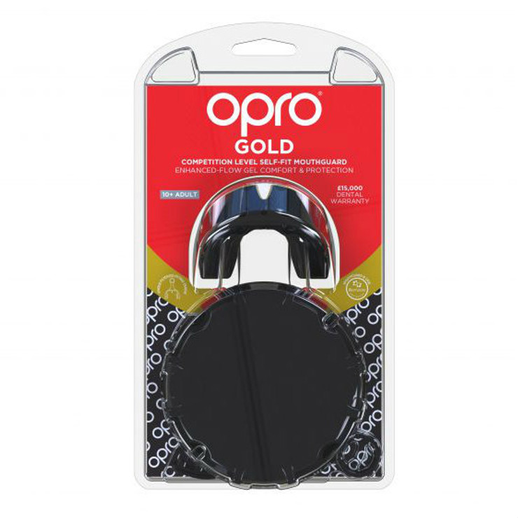 Opro Gold Gen 4 Mouth Guard Black/Gold