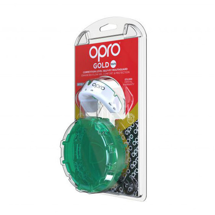 Opro Gold Gen 4 Mouth Guard White/Mint