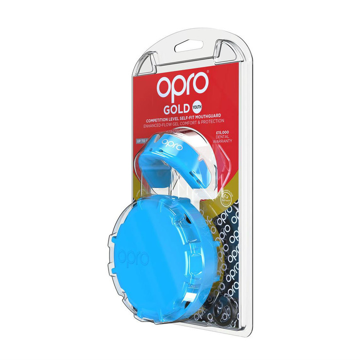 Opro Junior Gold Gen 4 Mouth Guard Sky Blue/Pearl