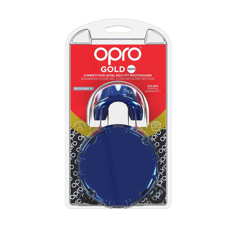 Opro Junior Gold Gen 4 Mouth Guard Pearl Blue/Pearl