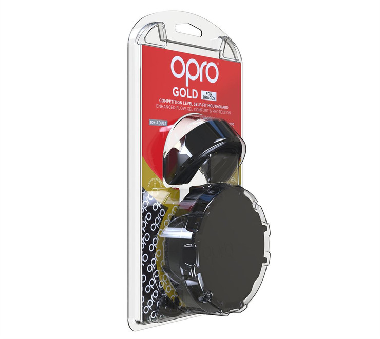 Opro Gold Braces Gen 4 Mouth Guard Black/Gold