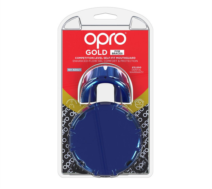 Opro Gold Braces Gen 4 Mouth Guard Pearl Blue/Pearl