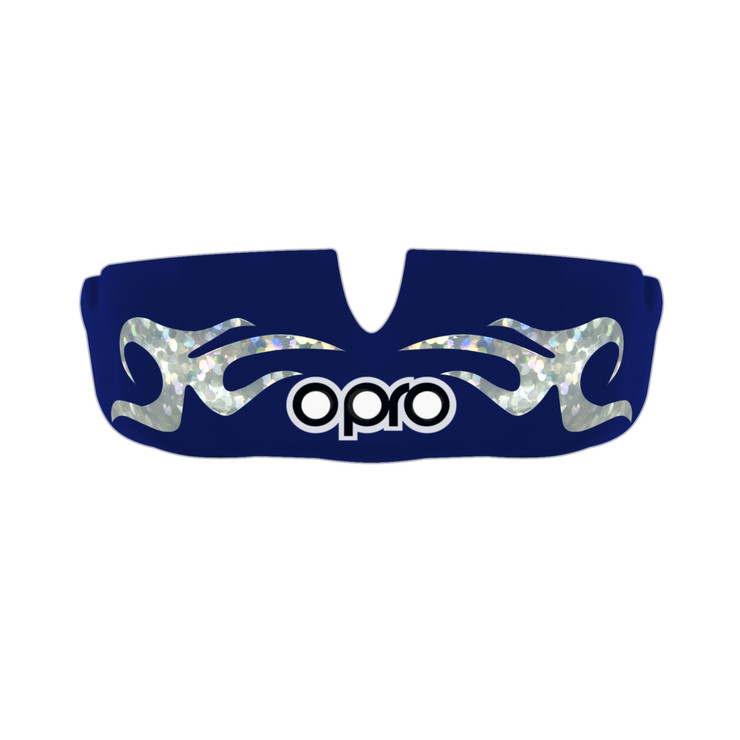 Opro Power Fit Bling Urban Mouth Guard Dark Blue/White
