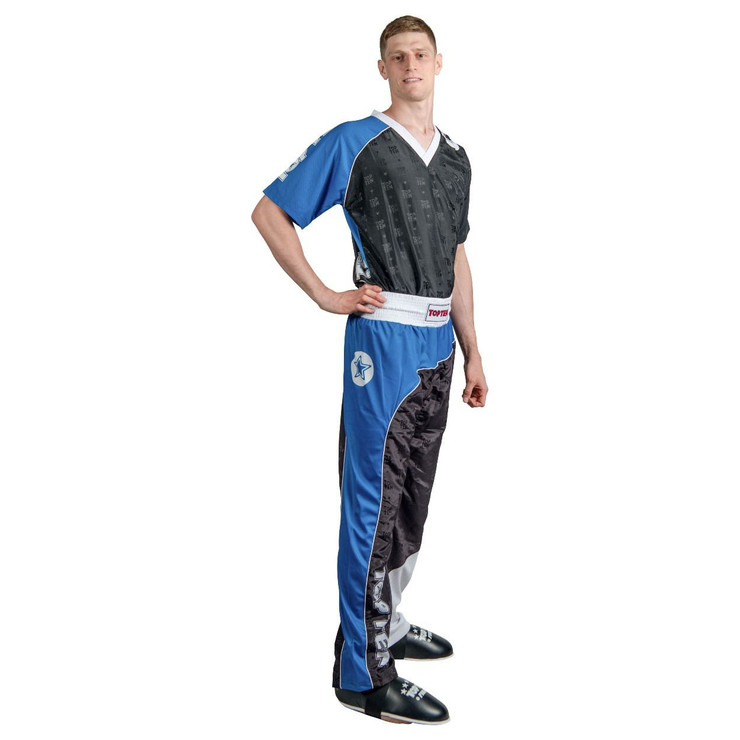 Top Ten Bow Kickboxing Uniform Black/Blue/White