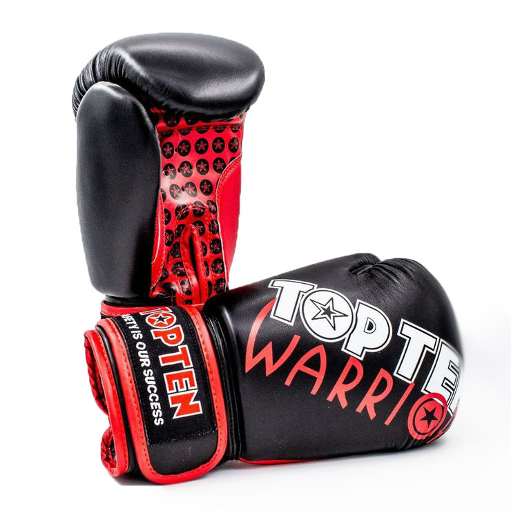 Top Ten Warrior Women's Boxing Gloves Black/Red