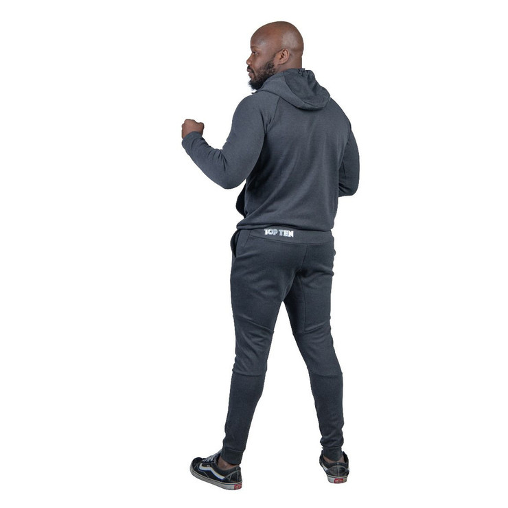 Top Ten Hooded Tracksuit Grey