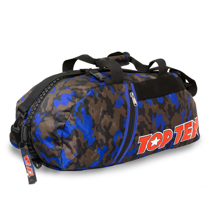 Top Ten Sportbag/Backpack Blue/Camo