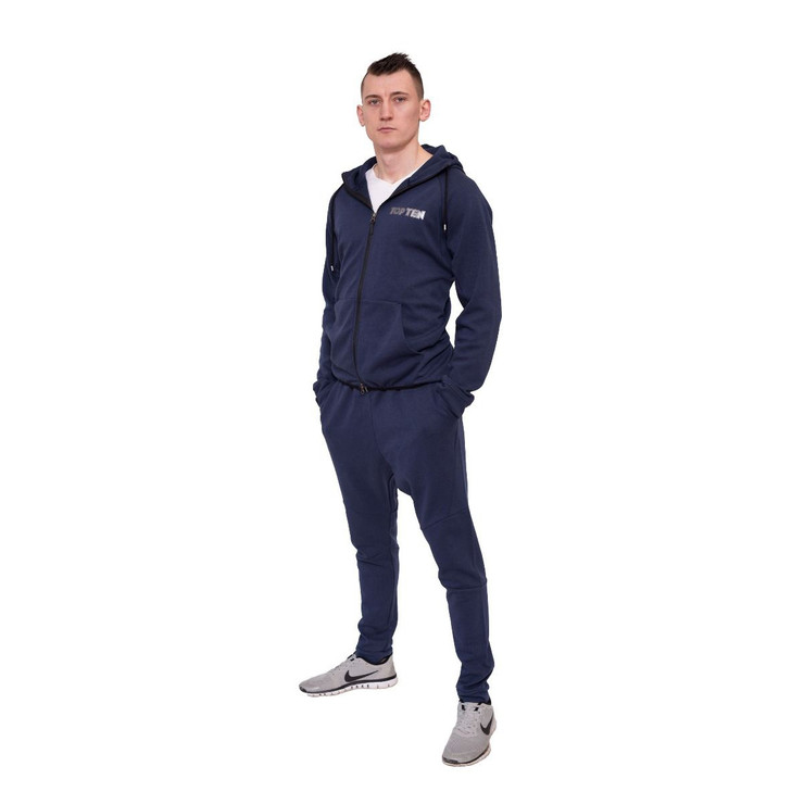 Top Ten Hooded Tracksuit Dark Blue