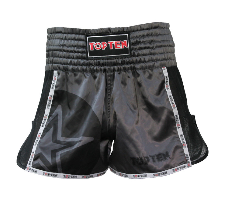 Top Ten Star Kickboxing Shorts Black