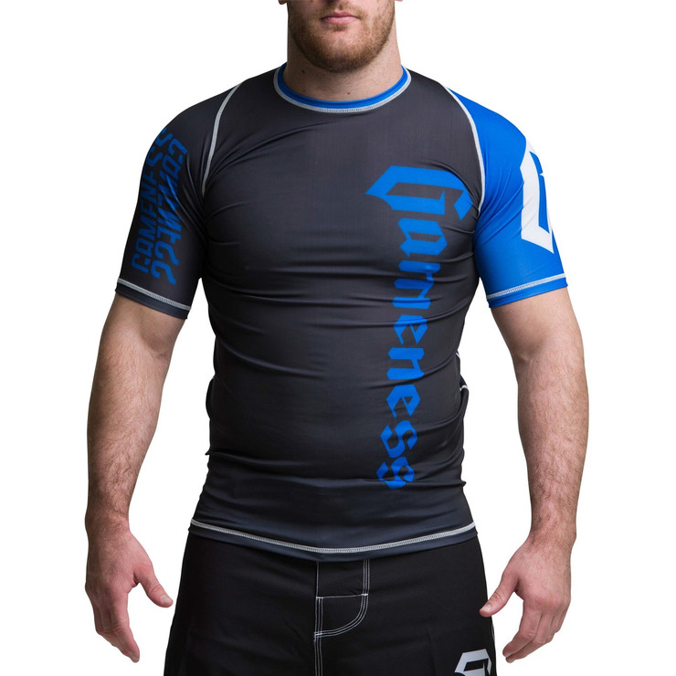 Gameness Pro Ranked Short Sleeve Rash Guard Blue