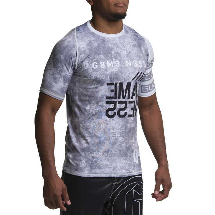 Gameness Marble Short Sleeve Rash Guard