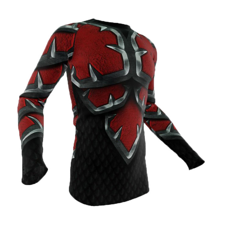 Razorstorm Crimson War Armour Long Sleeve Rash Guard