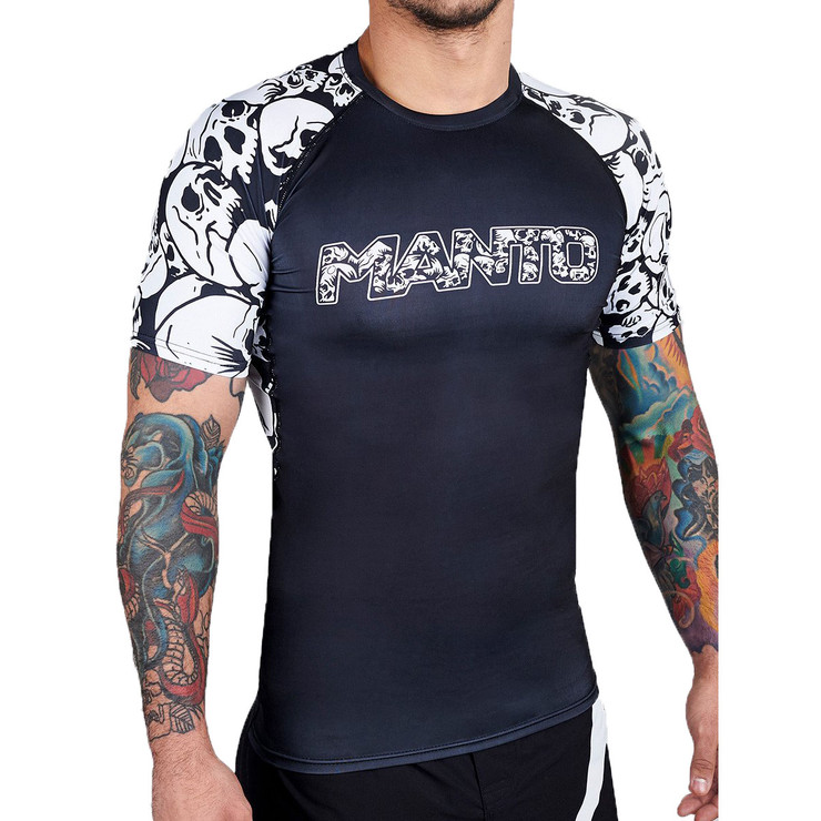 Manto Skulls Short Sleeve Rash Guard