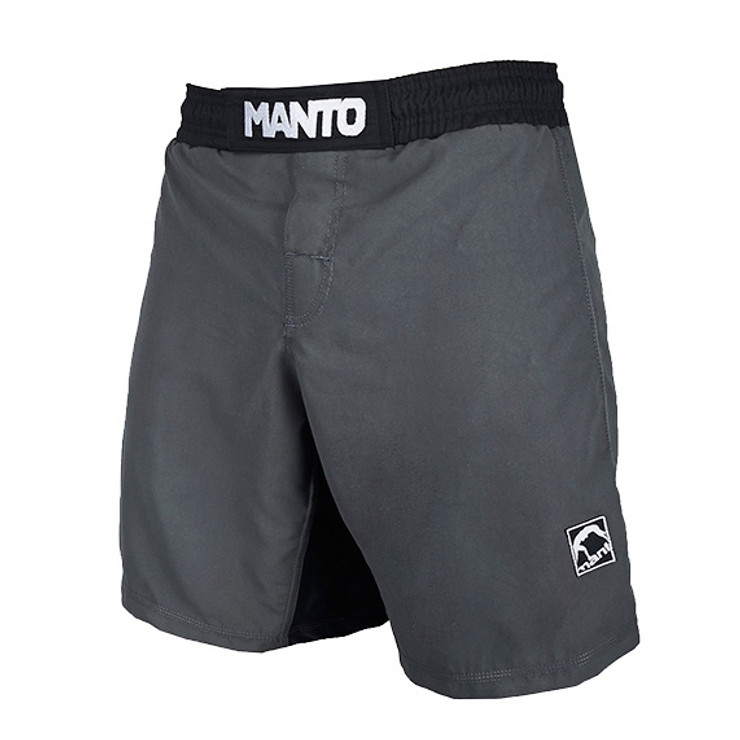 Manto Emblem Fight Shorts Grey