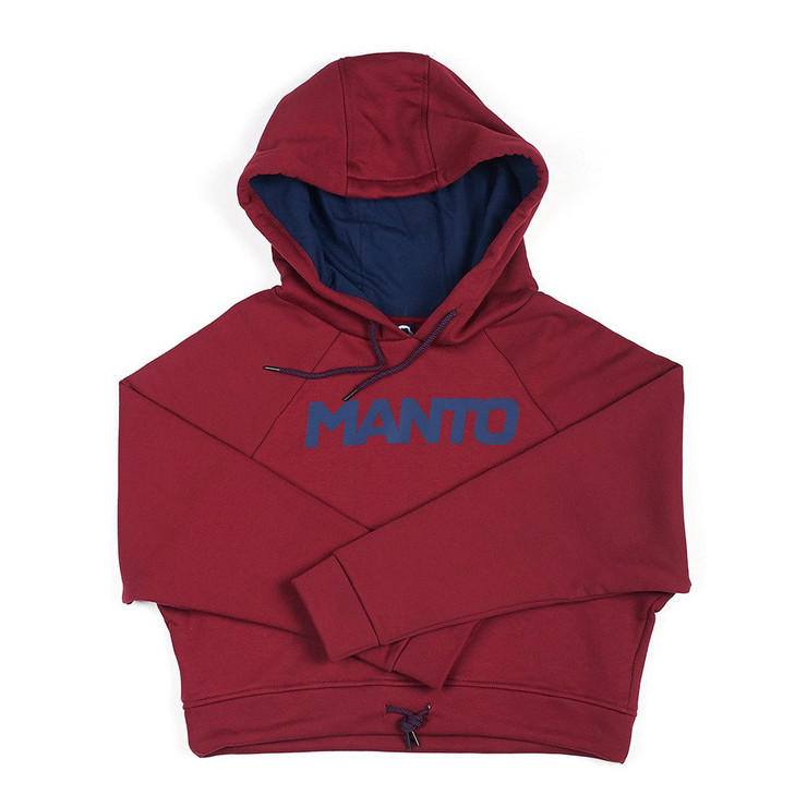 Manto Ladies Oversize Crop Top Hoodie