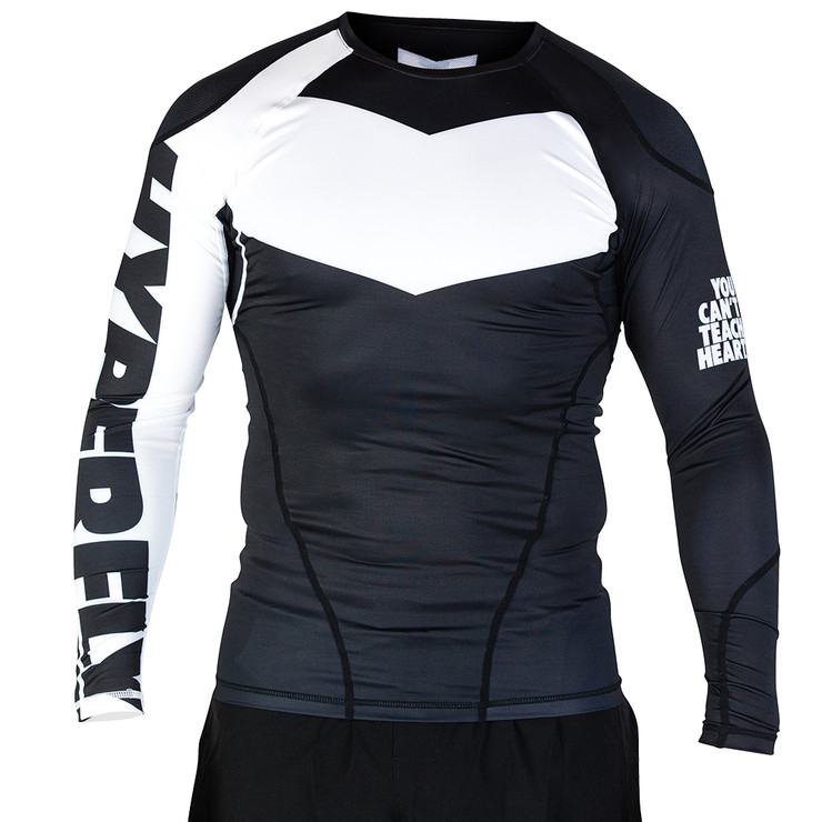 Hyperfly ProComp Supreme Long Sleeve Rash Guard Black