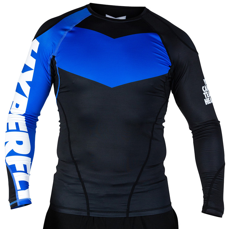 Hyperfly ProComp Supreme Long Sleeve Rash Guard Black/Blue