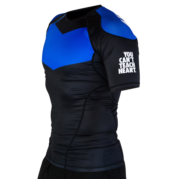Hyperfly ProComp Supreme Short Sleeve Rash Guard Black/Blue