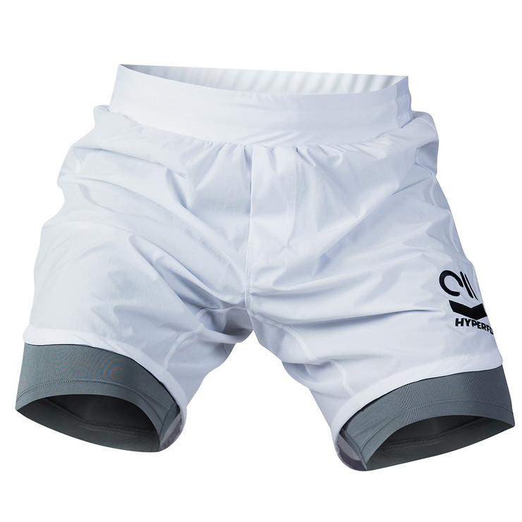Hyperfly Icon Grappling Shorts White