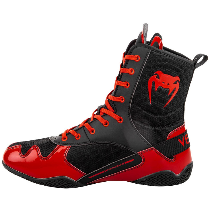 Venum Elite Boxing Shoes Black/Red