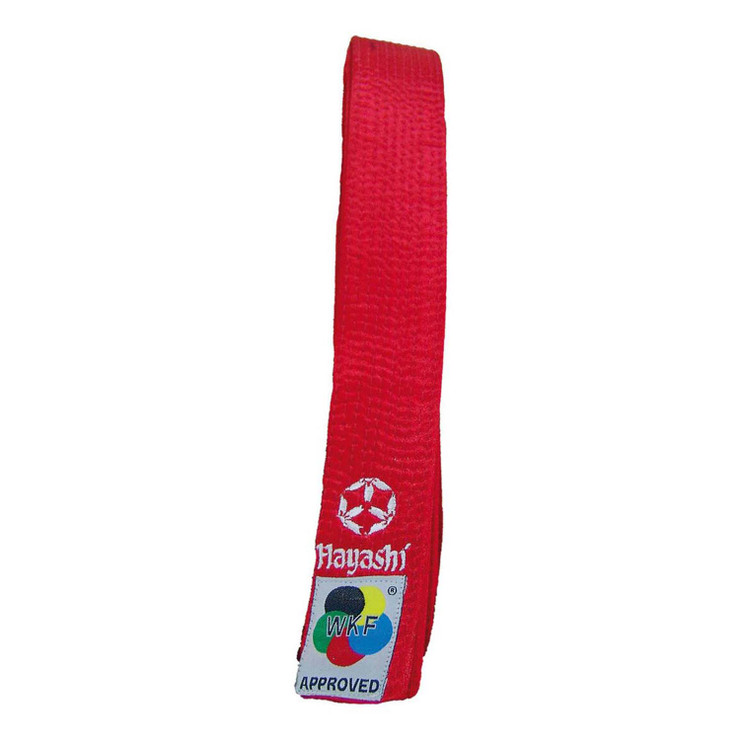 Hayashi WKF Karate Belt Red