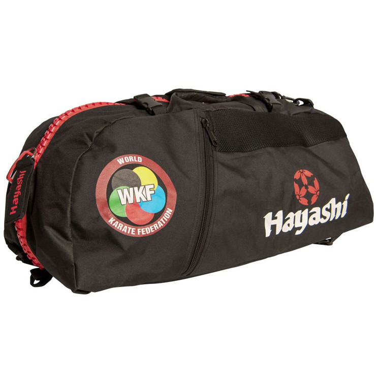 Hayashi WKF Sportsbag/Backpack Black/Red