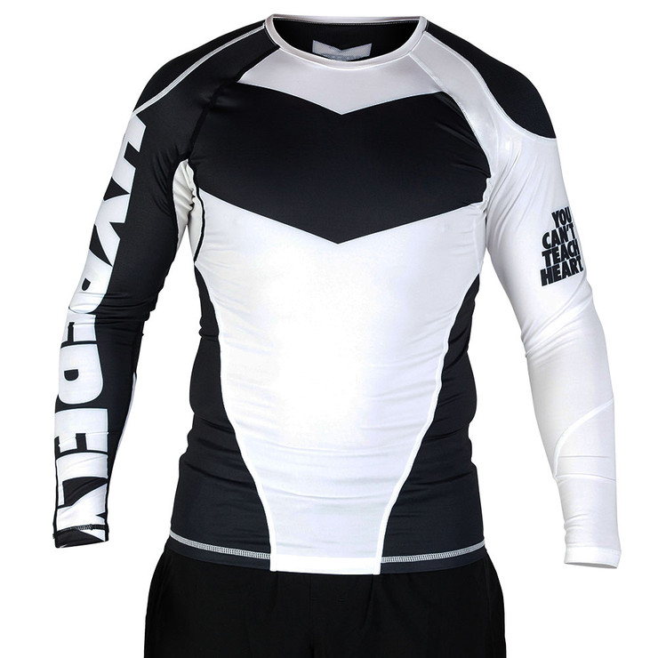 Hyperfly ProComp Supreme Long Sleeve Rash Guard White/Black