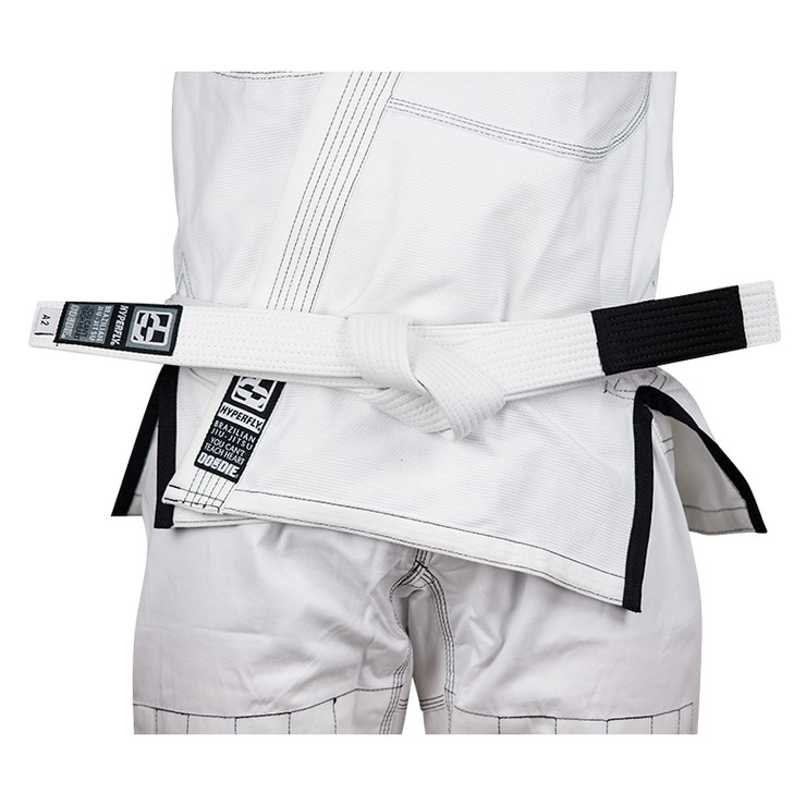 Hyperfly Deluxe BJJ Gi Belt White