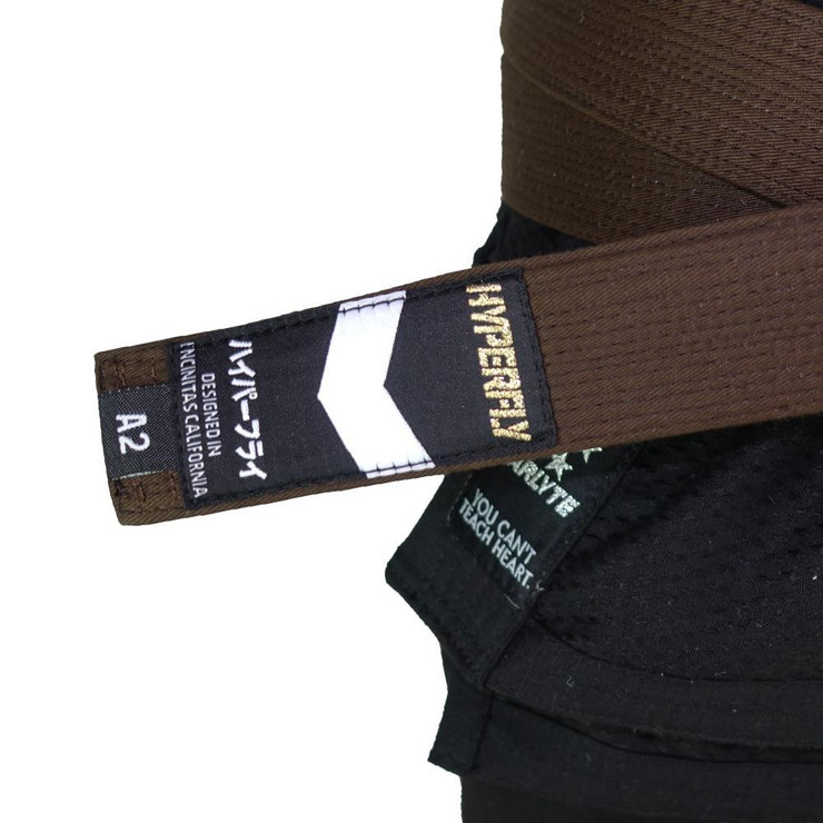 Hyperfly Deluxe BJJ Gi Belt Brown