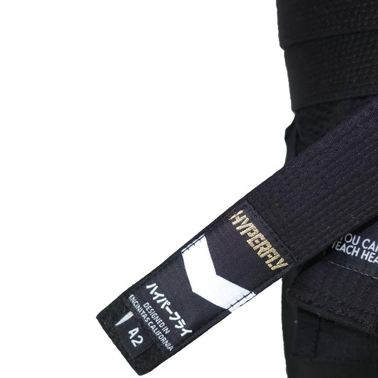 Hyperfly Deluxe BJJ Gi Belt Black