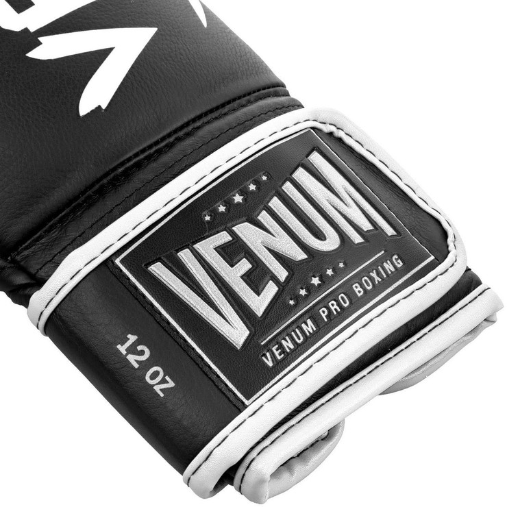 Venum Hammer Pro Boxing Gloves Black/White