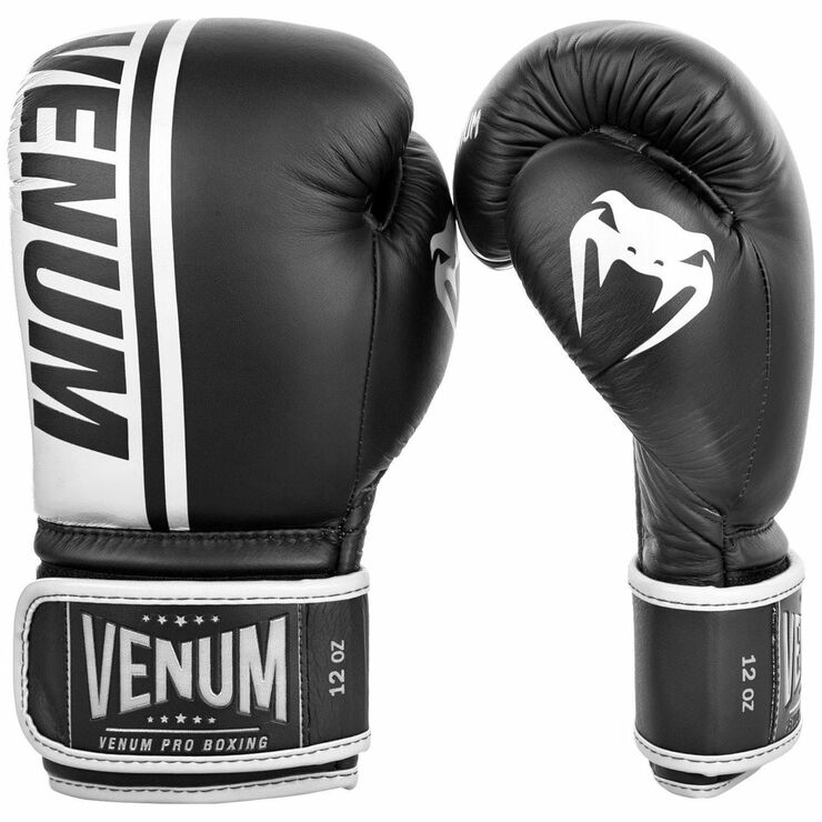 Venum Shield Pro Boxing Gloves Black/White