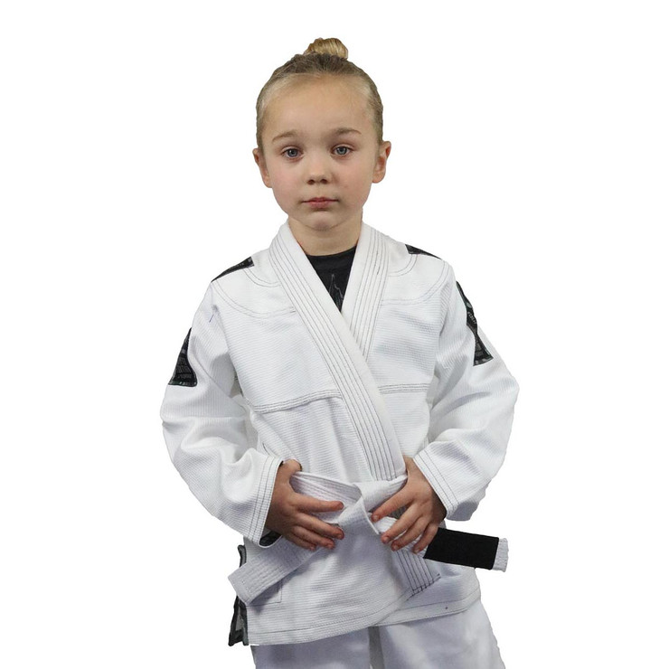 Fumetsu Prime Arctic Camo Edition BJJ Gi for Children White/Grey