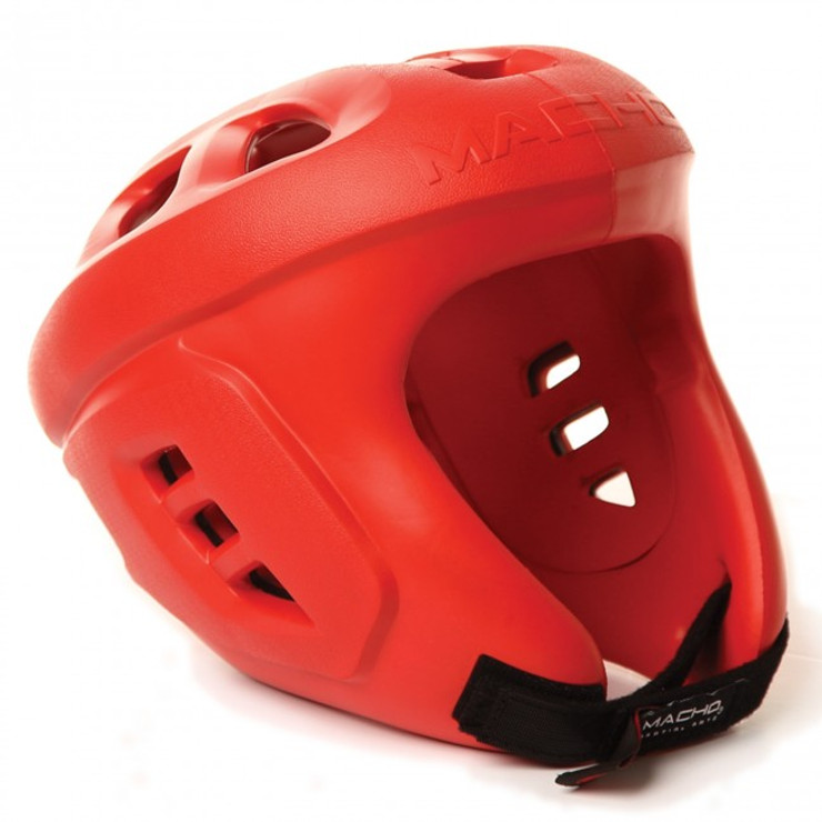Macho Spar-Tec Head Guard Red