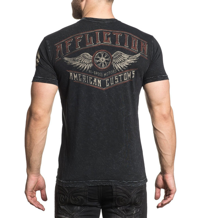 Affliction Full Moon Reversible Short Sleeved T-Shirt