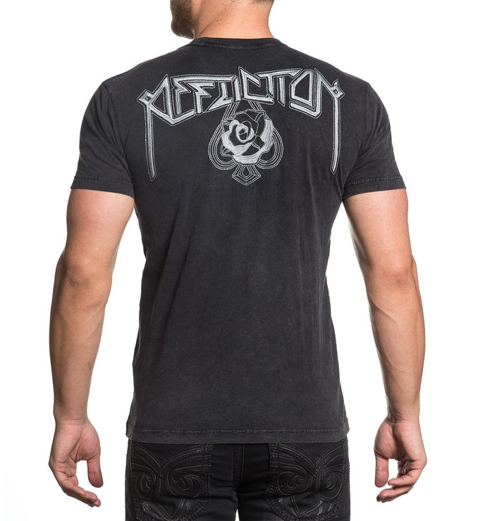 Affliction Hollow Point Stitch Short Sleeved T-Shirt