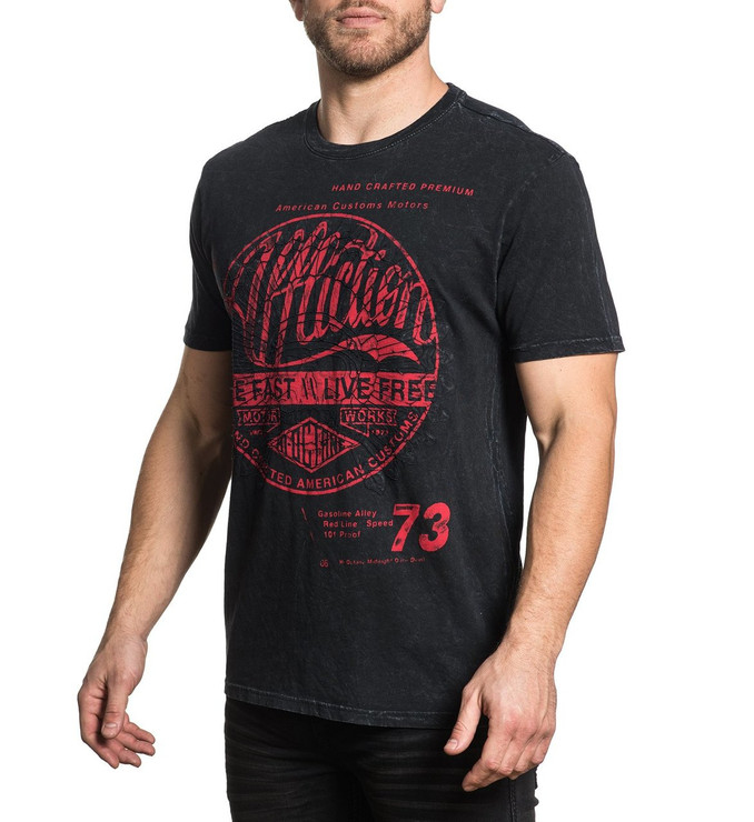 Affliction Motor Works Tribe Short Sleeved T-Shirt