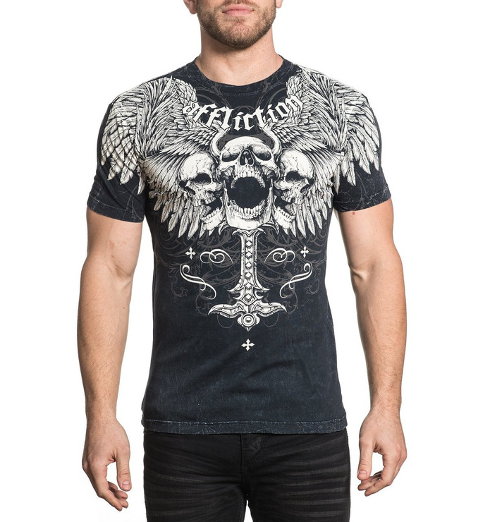 Affliction Saint Scream Short Sleeved T-Shirt