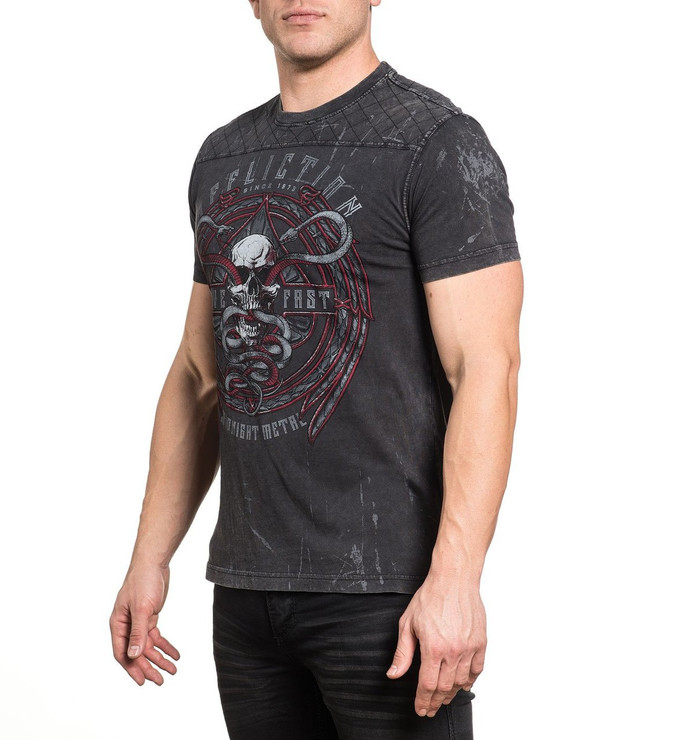Affliction Temple Viper Short Sleeved T-Shirt