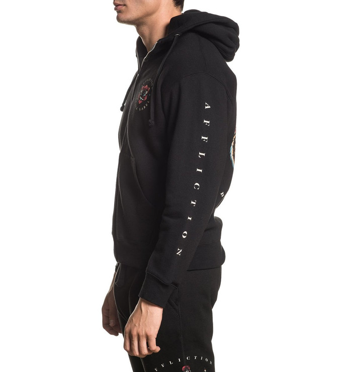 Affliction Screaming Dagger Zipped Hoody