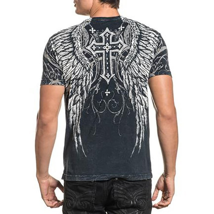 Affliction Demon Eyes Short Sleeved T-Shirt